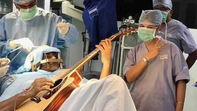 Indian Man Guitar Brain Surgery