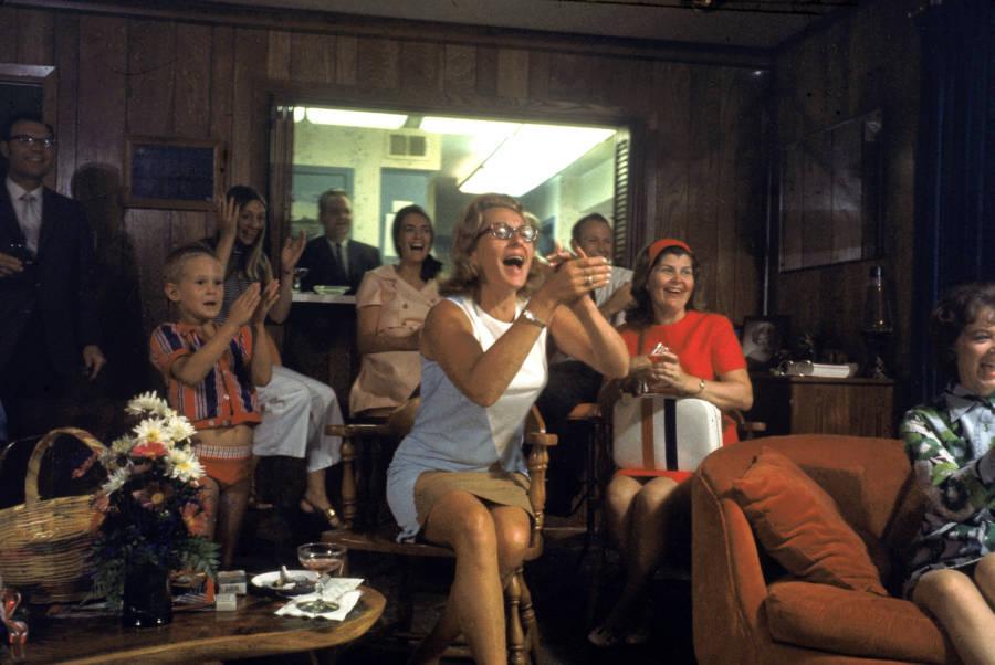 Joan Aldrin Applauds Splashdown