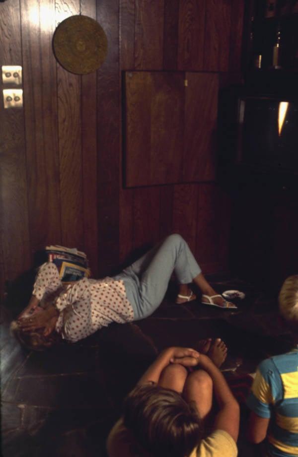 Joan Aldrin On Floor