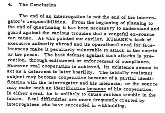 Kubark Conclusion
