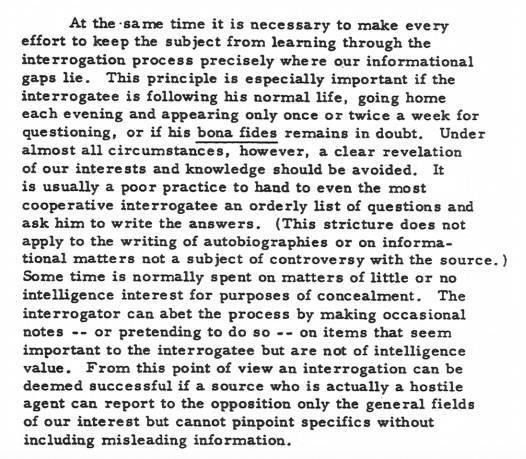 Kubark Manual Excerpt