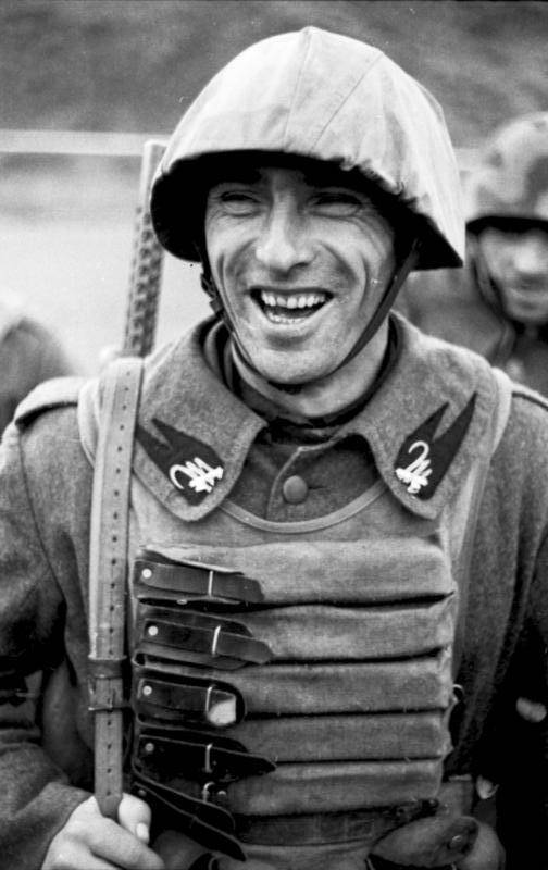 Laughing Fascist Soldier
