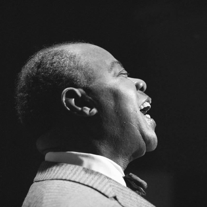 Louis Armstrong Close Up