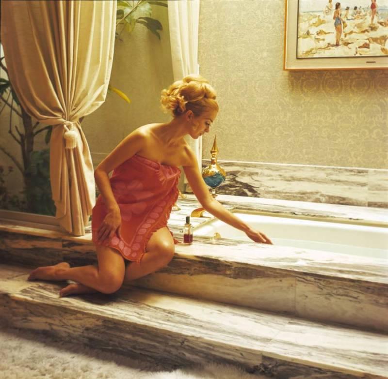 Marble Bath Curtains