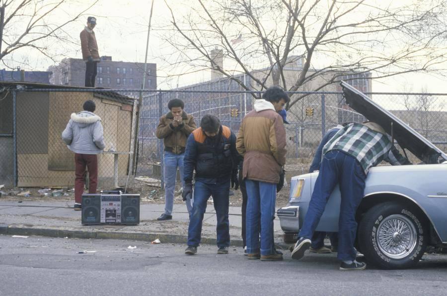 Men Repairing Car South Bronx