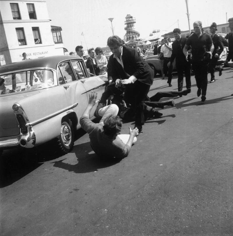 Mods And Rockers Fighting