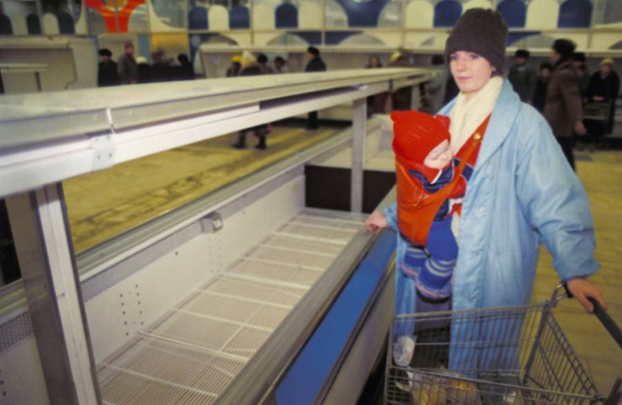 Moscow Supermarket Empty Shelves
