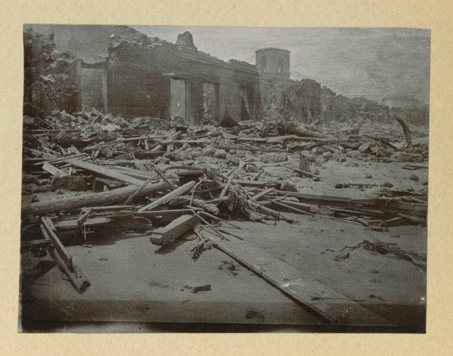 Mt Pelee Destruction