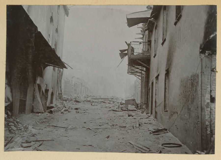 Mt Pelee Dusty Street