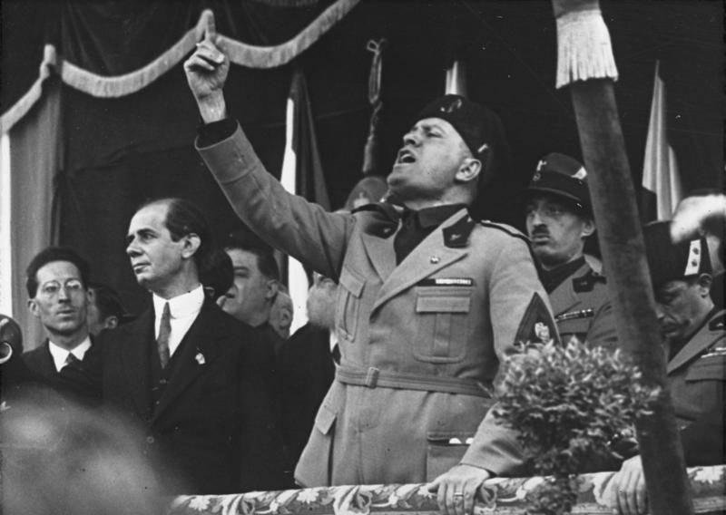Mussolini Giving A Speech
