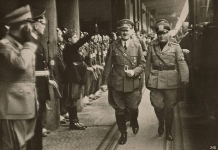 Mussolini Hitler Brenner Pass