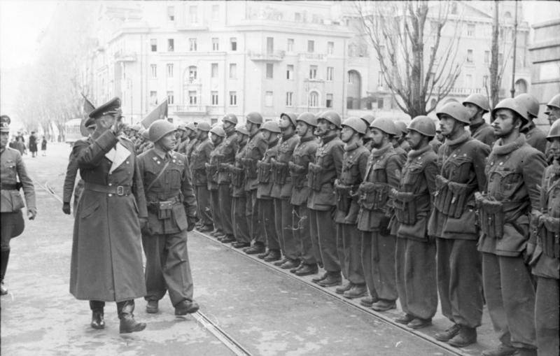 Nazi General Salutes Soldiers