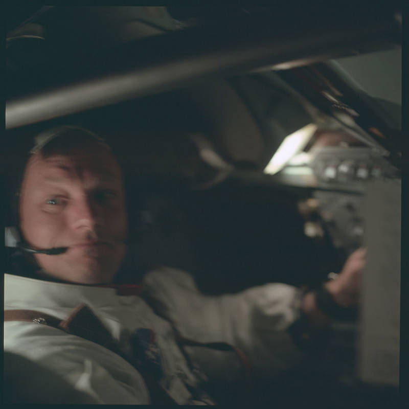 Neil Armstrong In Flight