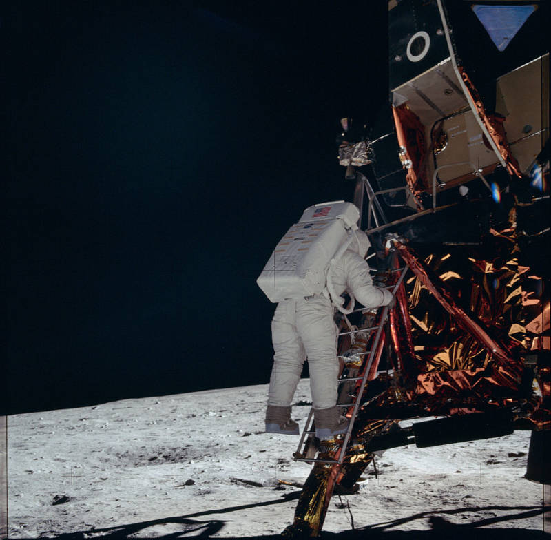 Neil Armstrong Leaving Eagle