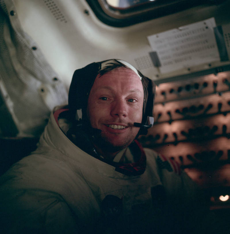 Neil Armstrong Teary Eyes