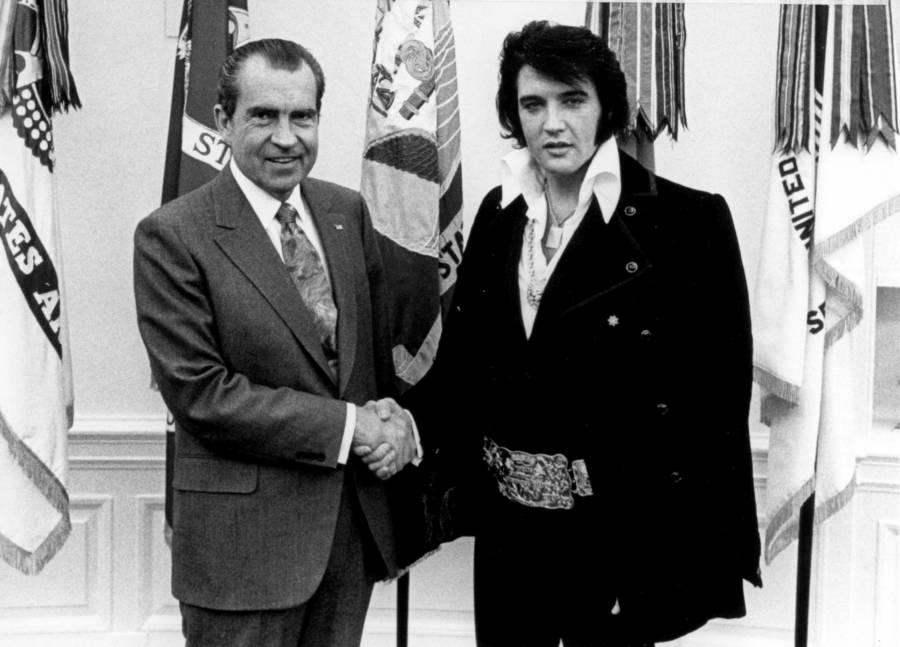 Nixon With Elvis