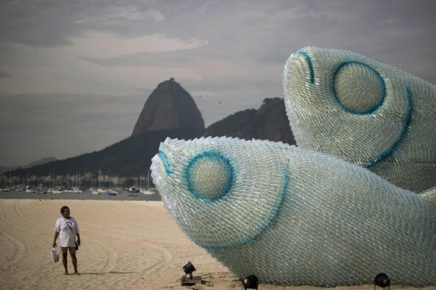 Plastic Fish Sculpture