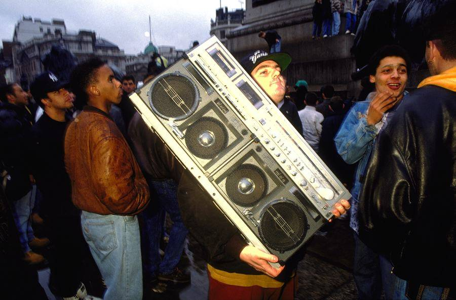 Portable Tape Deck Trafalgar Square London