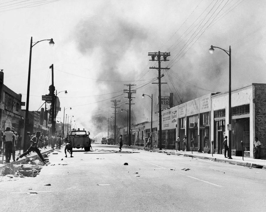 Racial Riots In The Watts Area