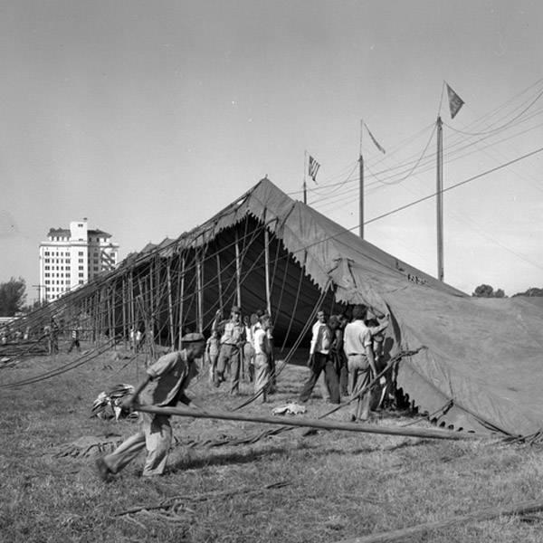 Raising Tent