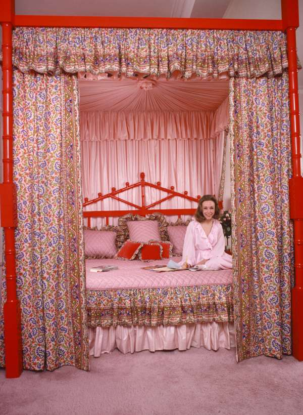 Red Rectangle Canopy Bed
