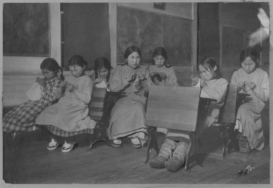 Sewing Class Eskimo School