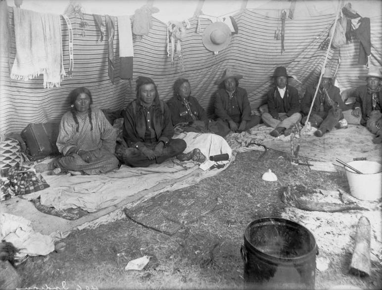 Six People Inside Tepee