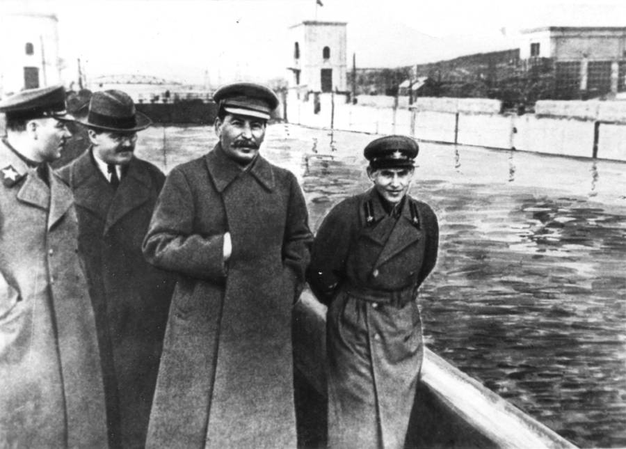 Stalin At Moscow Canal