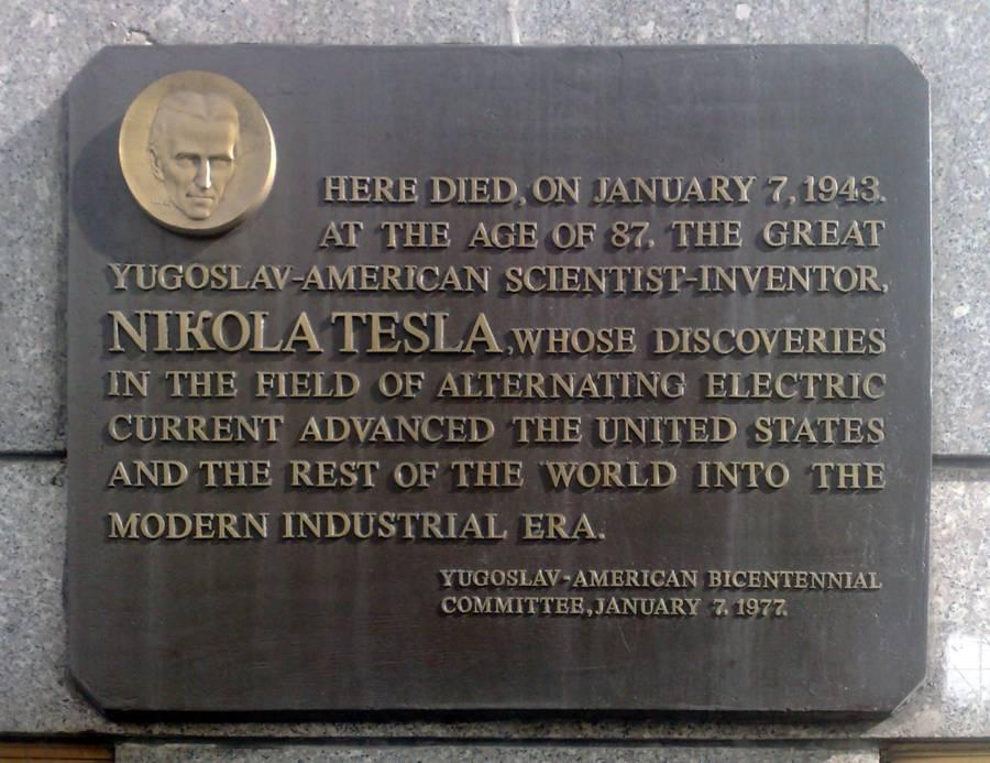 Tesla Plaque