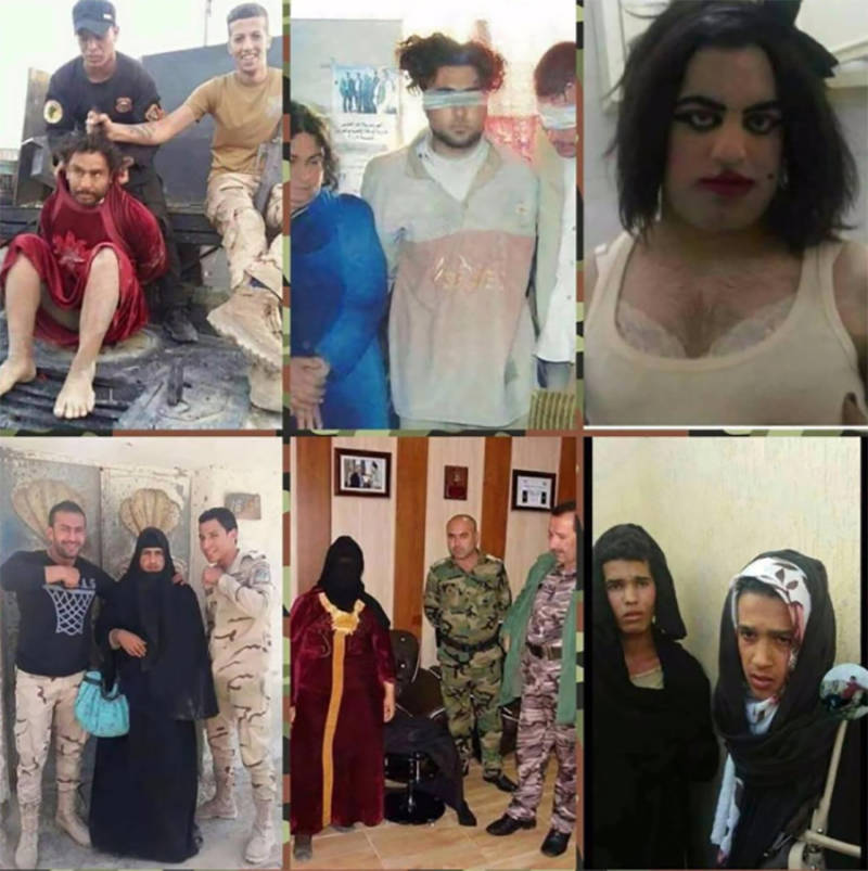 ISIS Fighters Dressed As Women