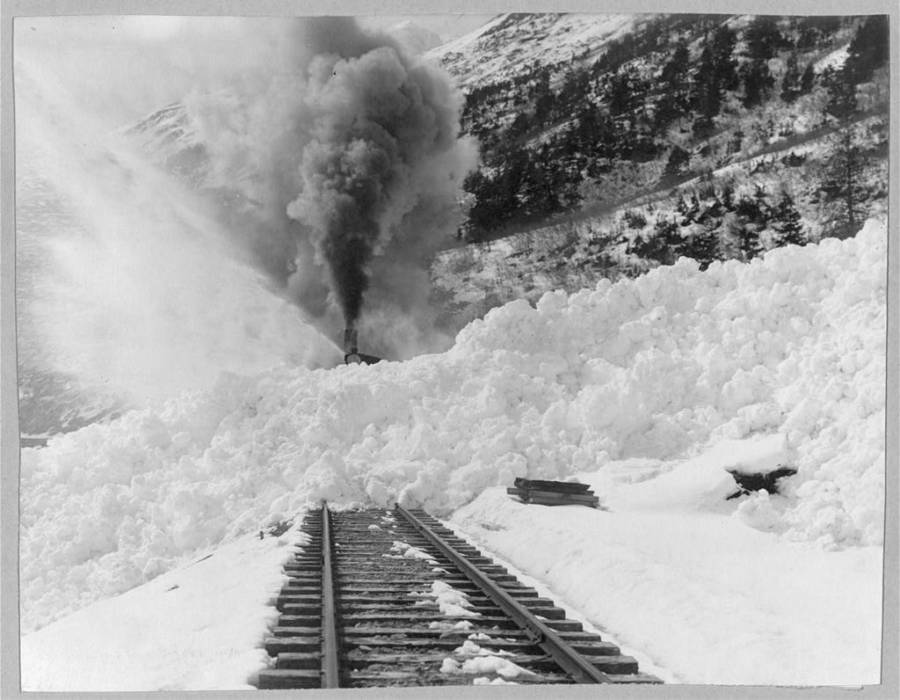 Train In Avalanche