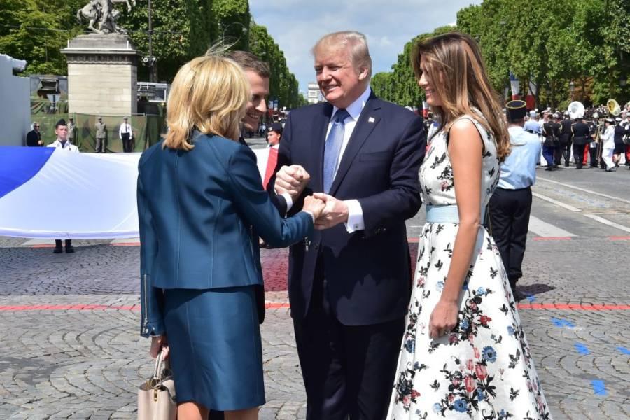 Trum Brigitte Macron