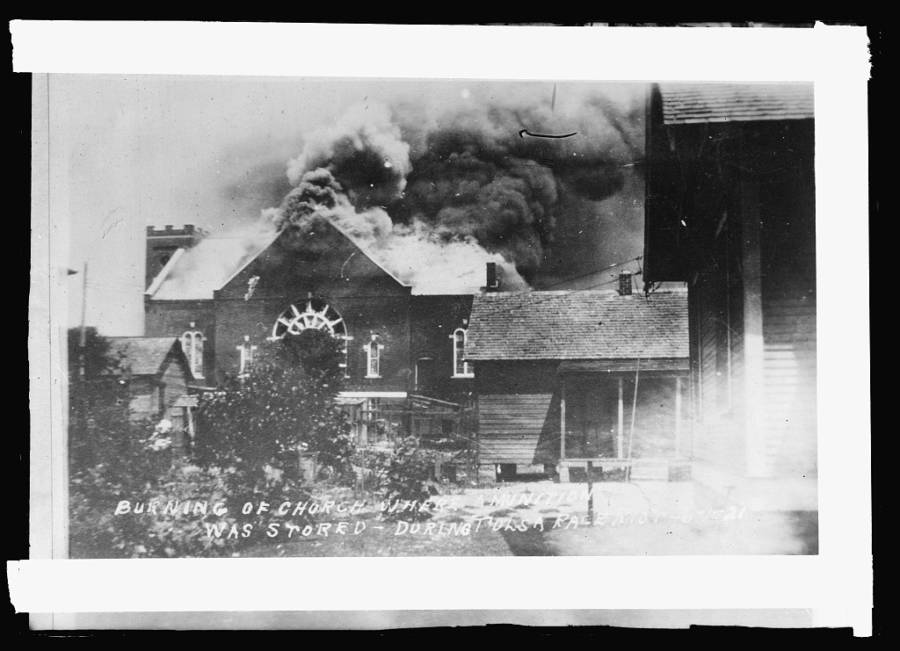 Tulsa Riot Burning Church