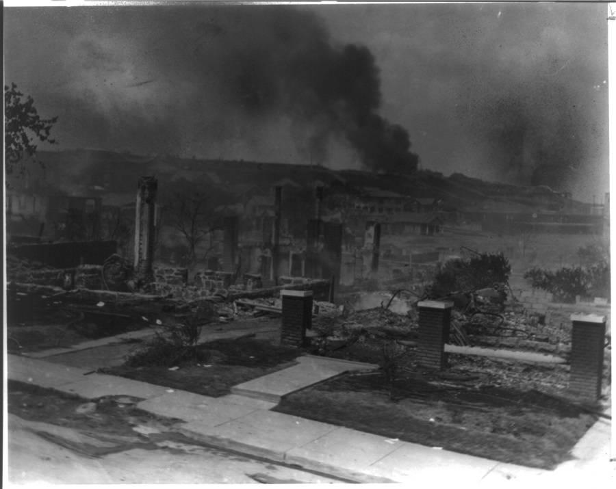 Tulsa Riot Smoldering Ruins