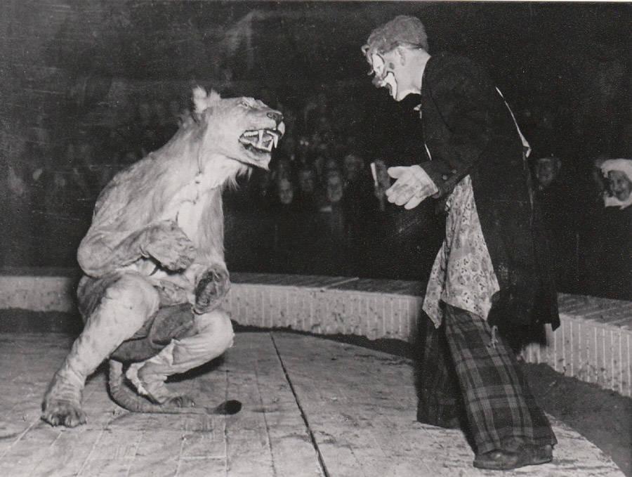 Vintage Circus Clown Lion