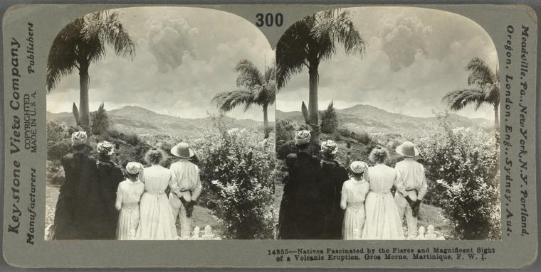 Watching Mt Pelee Erupt