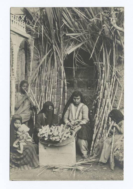 Women Children Sugar Cane
