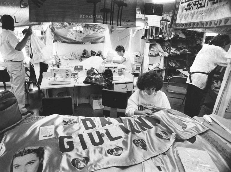 Working On Aids Quilt