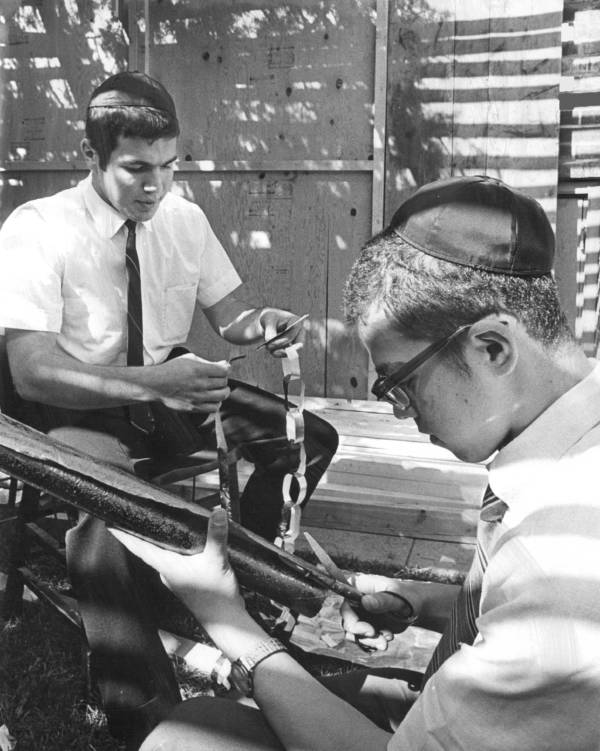 1960s Brooklyn Sukkah
