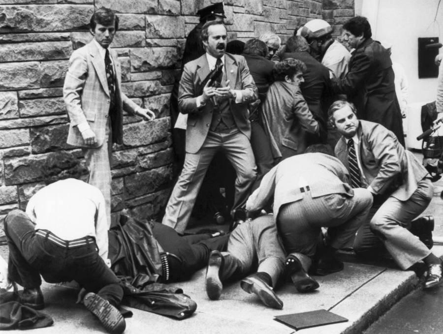 Aftermath Of Assassination Attempt On Reagan