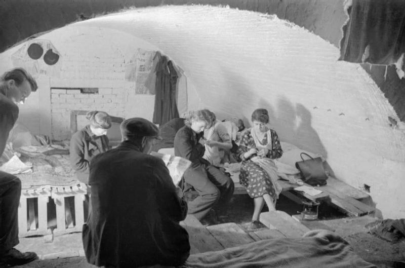 Air Raid Shelter Civilians