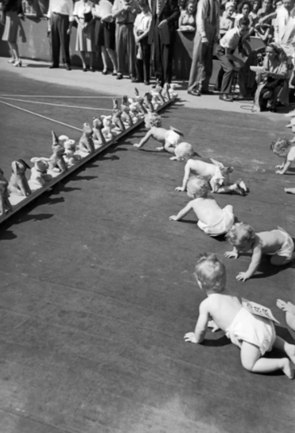 Babies Crawling Finish Line