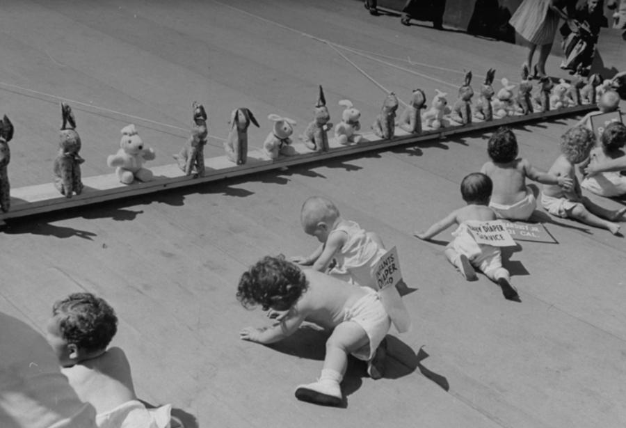 Babies Crawling Towards Finish Line