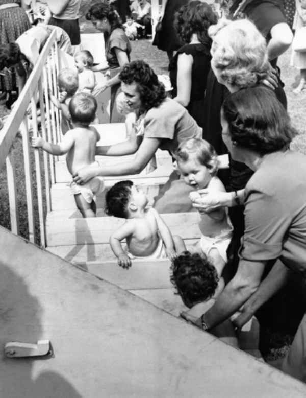 Babies On Steps