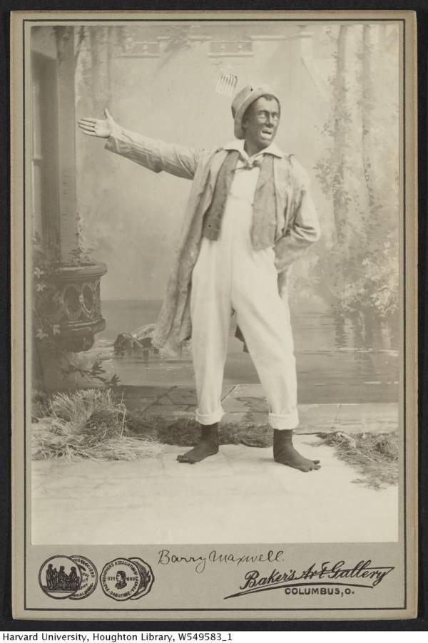 Barry Maxwell In Blackface