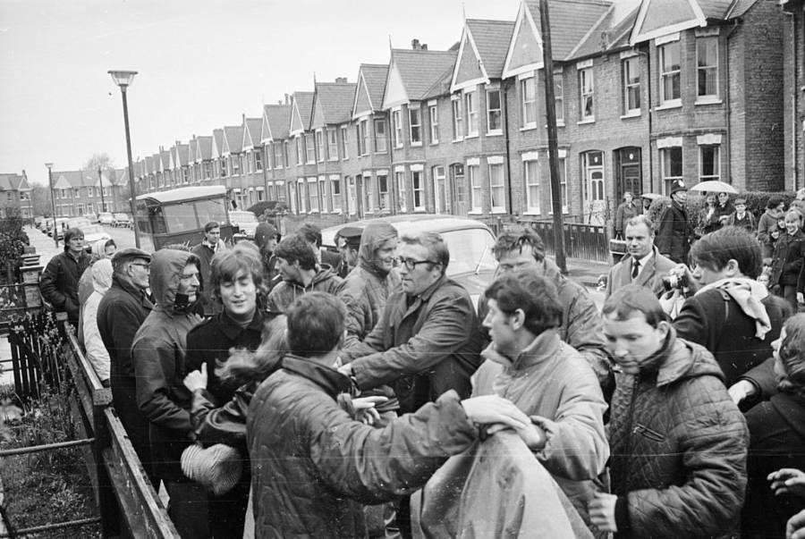 Beatlemania Fans Grab Lennon