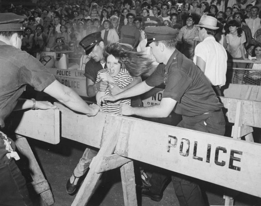 Beatles Fan Fights Police
