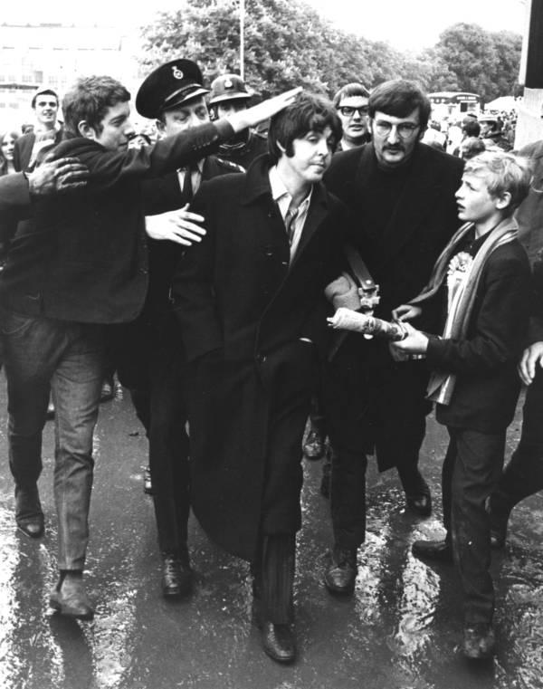 Beatles Fan Touching Mccartney