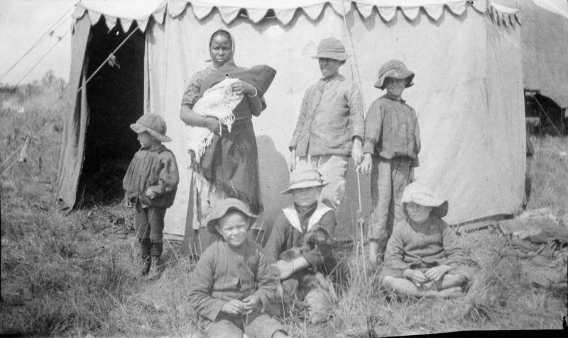 Boer Children With African Woman