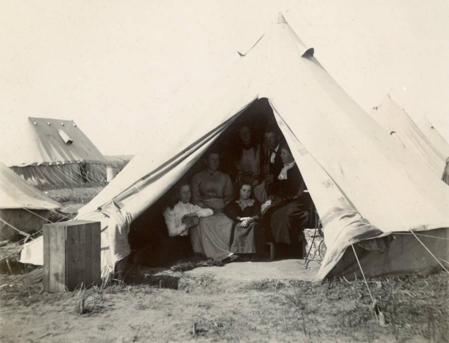 Boer Family In Camp